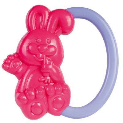 Погремушка Canpol Кролик, 0+ мес., арт. 2/188 цвет розовый
