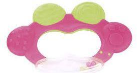 Купить Погремушка с эластичными прорезывателем Canpol Лягушка арт. 74/001, 0+ мес., цвет: розовый, для девочки, Погремушки и прорезыватели