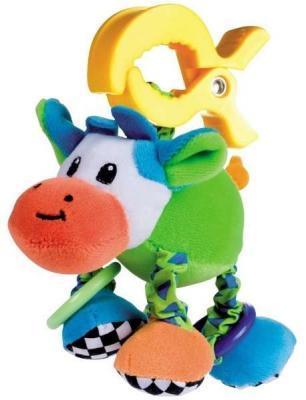 Купить Интерактивная игрушка Canpol игрушка-подвеска Корова с рождения, разноцветный, текстиль, пластик, унисекс, Игрушки-подвески
