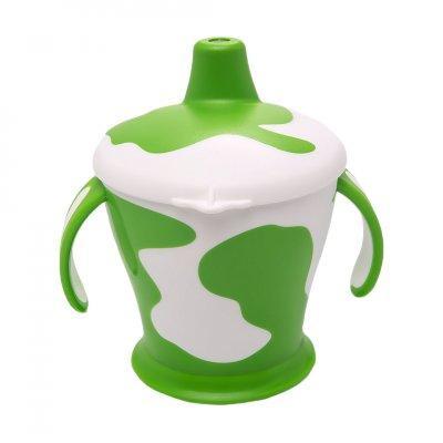 Поильник-непроливайка с ручками Canpol Little cow арт. 31/404, 9+ мес., 250 мл, цвет зеленый поильники бусинка непроливайка 250 мл 1203