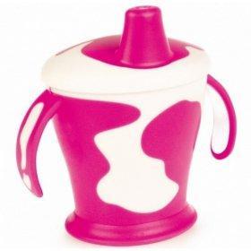 Поильник-непроливайка с ручками Canpol Little cow арт. 31/404, 9+ мес., 250 мл, цвет фиолетовый поильники бусинка непроливайка 250 мл 1203