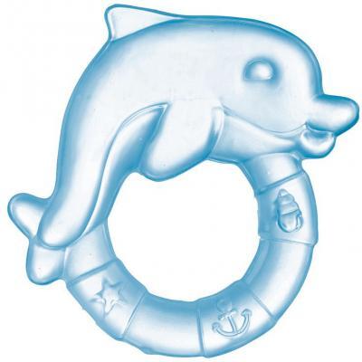 Купить Прорезыватель водный Canpol Дельфин голубой с рождения охлаждающий 2/221, этиленвинилацетат, унисекс, Прорезыватели