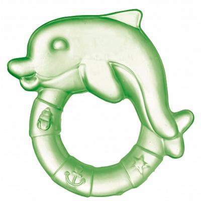 Прорезыватель водный Canpol Дельфин зелёный с рождения охлаждающий 2/221, этиленвинилацетат, унисекс, Прорезыватели  - купить со скидкой