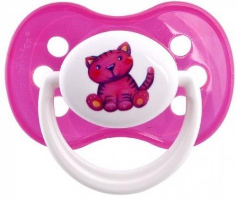 Пустышка симметричная Canpol Milky силикон, 0-6 мес., арт. 22/541, цвет розовый, форма: котенок пустышка симметричная canpol milky силикон 0 6 мес арт 22 541 цвет салатовый форма мишка