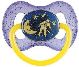 Купить Пустышка круглая Canpol Space силикон, 0-6 мес., арт. 23/255 цвет фиолетовый, для девочки, для мальчика, Пустышки
