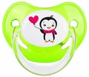 Купить Пустышка анатомическая Canpol Penguins силикон, 6-18 мес., арт. 22/584 цвет зеленый, для девочки, для мальчика, Пустышки