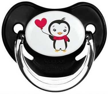 Пустышка анатомическая Canpol Penguins силикон, 6-18 мес., арт. 22/589 цвет чёрный пустышка анатомическая canpol penguins латекc 18 мес арт 22 588 цвет синий