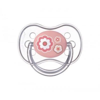 Купить Пустышка Canpol Newborn baby с рождения силикон розовый 22/580, для девочки, Пустышки