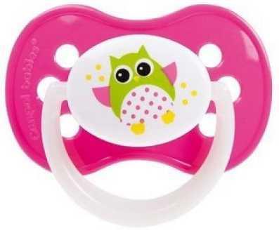 Купить Пустышка Canpol Owl с рождения силикон розовый 22/568, для девочки, Пустышки