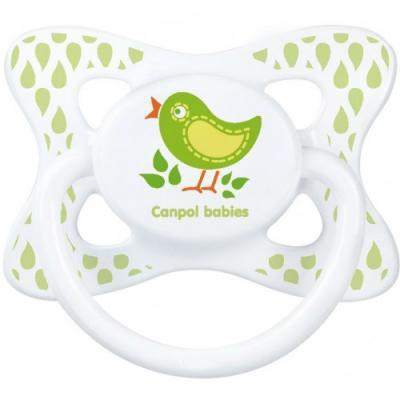 Купить Пустышка Canpol Summertime симметричная, силикон, 0-6 мес., арт. 23/460 рисунок Птичка, для девочки, для мальчика, Пустышки