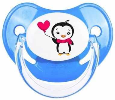 Купить Пустышка анатомическая Canpol Penguins силикон, 6-18 мес., арт. 22/584 цвет синий, для мальчика, Пустышки