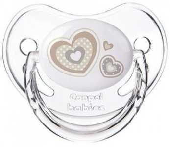 Купить Пустышка анатомическая Canpol Newborn baby силикон, 6-18 мес., арт. 22/566 цвет белый, для девочки, для мальчика, Пустышки