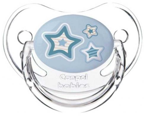 Купить Пустышка анатомическая Canpol Newborn baby силикон, 0-6 мес., арт. 22/565 цвет голубой, для мальчика, Пустышки