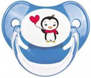 Купить Пустышка анатомическая Canpol Penguins латекc, 18+ мес., арт. 22/588 цвет синий, латекс, для мальчика, Пустышки