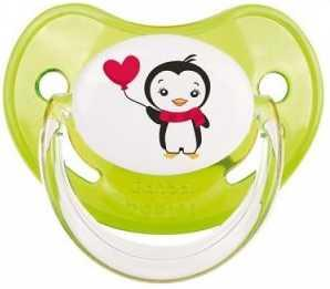 Купить Пустышка анатомическая Canpol Penguins латекc, 18+ мес., арт. 22/588 цвет зеленый, латекс, для девочки, для мальчика, Пустышки