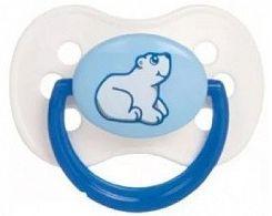 Пустышка круглая Canpol Animals силикон, 0-6 мес., арт. 22/595 цвет синий