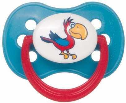 Купить Пустышка круглая Canpol Animals латекс, 0-6 мес., арт. 22/593 цвет бирюзовый, для девочки, для мальчика, Пустышки