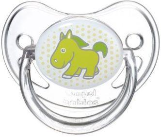 Купить Пустышка анатомическая Canpol Transparent силикон, 0-6 мес., арт. 22/511 рисунок Лошадка, для девочки, для мальчика, Пустышки