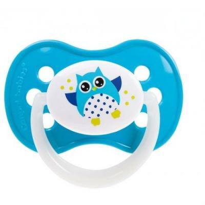 Купить Пустышка Canpol Owl симметричная, силикон, 6-18 мес., арт. 22/569 цвет голубой, для мальчика, Пустышки
