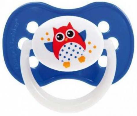 Пустышка Canpol Owl симметричная, силикон, 0-6 мес., арт. 22/568 цвет синий пустышка симметричная canpol milky силикон 0 6 мес арт 22 541 цвет салатовый форма мишка