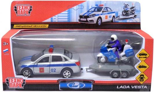 Полиция Технопарк LADA VESTA разноцветный SB-17-56WB игрушка технопарк lada vesta полиция мотоцикл sb 17 56wb