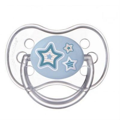 Купить Пустышка Canpol Newborn bab с рождения силикон голубой 22/580, для мальчика, Пустышки