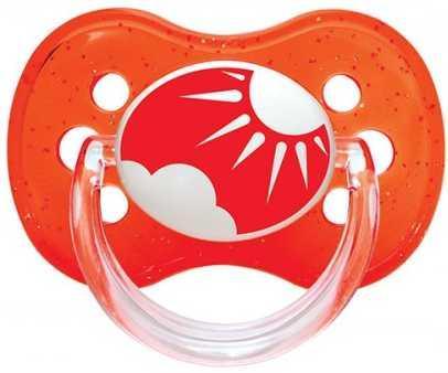 Купить Пустышка Canpol Природа от 6 месяцев силикон красный 22/435, для девочки, для мальчика, Пустышки