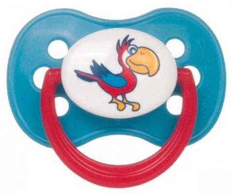 Купить Пустышка классическая Canpol Animals от 6 месяцев латекс бирюзовый 22/594, для девочки, для мальчика, Пустышки