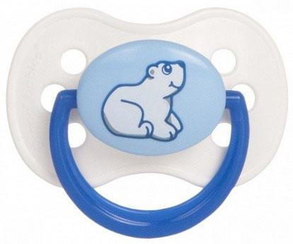 Купить Пустышка классическая Canpol Animals от 6 месяцев латекс синий 22/594, для девочки, для мальчика, Пустышки