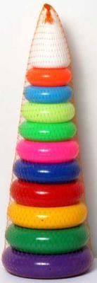 Купить ИГРА ПИРАМИДА ГИГАНТ (60СМ) в кор.10шт, Совтехстром, пластик, Пирамидки для малышей