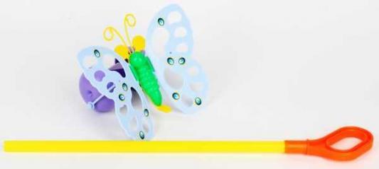 Каталка на палочке Совтехстром БАБОЧКА разноцветный от 3 лет пластик У514 каталка на палочке большое выступление 22см