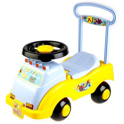 Каталка-машинка Совтехстром АВТОМОБИЛЬ-КАТАЛКА №2 желтый от 3 лет пластик У439 italtrike каталка трамвай от 12 мес