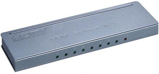 Разветвитель Orient HSP0108H-mini, HDMI 4K Splitter 1-8, HDMI 1.4/3D, UHDTV 4K(3840x2160)/HDTV1080p/1080i/720p, HDCP1.2, внешний БП 5В/1.5A, метал.кор gold plated nylon braided hdmi cable hdmi 2 0 4k x 2k ethernet support video 4k 2160p hd 1080p 3d 1 5m 3m 5m 10m 15m 20m