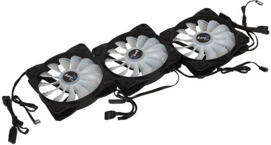 цена Вентилятор Aerocool P7-F12 Pro [Project 7] , набор из 3шт P7-F12 + хаб P7-H1