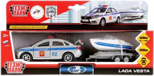 Полицейский внедорожник Технопарк LADA белый 12 см SB-17-57WB игрушка технопарк lada vesta полиция мотоцикл sb 17 56wb