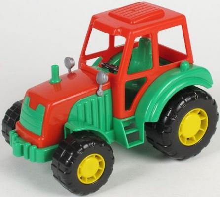 Купить Трактор Полесье МАСТЕР зеленый 35240, ТЕХНОПАРК, Игрушечные машинки