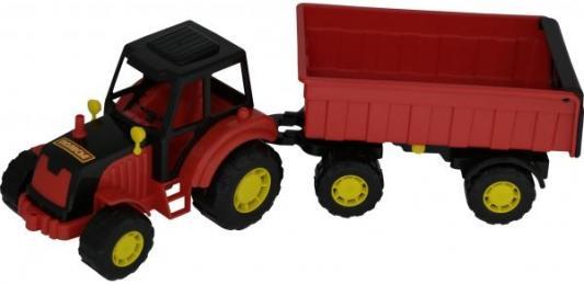 Трактор Полесье МАСТЕР красный 35257 полесье трактор мастер с полуприцепом лесовозом цвет синий желтый красный