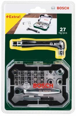 Купить Набор бит BOSCH 26 с трещеткой (2.607.017.392) + угловая отвертка
