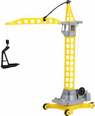 Купить Башенный кран Полесье АГАТ желтый 56429, Игрушечные машинки