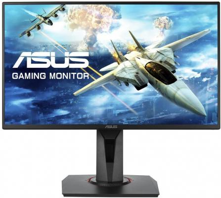 "МОНИТОР 24.5"" ASUS VG258Q Black (IPS, LED, Wide, 1920x1080, 144Hz, 1ms, 170°/160°, 400 cd/m, 100,000,000:1, +DVI, +DP, + asus asus be24aqlb 24 1 черный dvi"