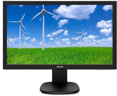 МОНИТОР 23.6 PHILIPS 243S5LHMB/00 Black с поворотом экрана (LED, 1920x1080, 1 ms, 170°/160°, 250 cd/m, 10M:1, +HDMI, +M бензопила stihl ms 261c m