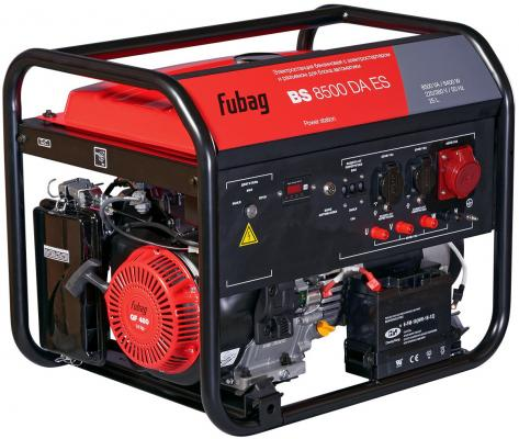Бензиновый генератор FUBAG BS 8500 DA ES 8.5 кВа/6.4 кВт, время работы: 5.5 ч. бензогенератор тсс sgg 2800l квт 2 8 ква 2 8 15 л на 75% без дозаправ ч 10