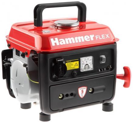 Бензоэлектростанция Hammer Flex GN800 0,8КВт 220В 50Гц бак 4,5л непр.6ч бензоэлектростанция инверторная dde dpg1101i 0 9квт 220в бак 2 6л непрер 5ч