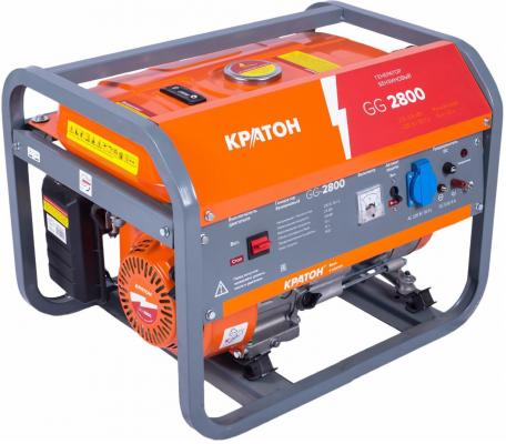 Генератор КРАТОН GG-2800 2.8 кВа/2.5 кВт, 210 см3, бак 15л, время работы: 13 ч.