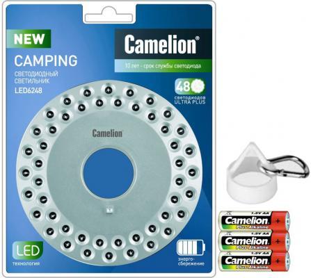 Фонарь кемпинговый Camelion LED6248 серебристый фонарь camelion led5107 9