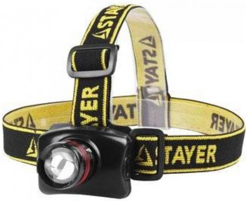 Фонарь STAYER 56566 professional налобный светодиодный 3Вт(140лм) регулируемый фокус 3 режима 3ааа цена