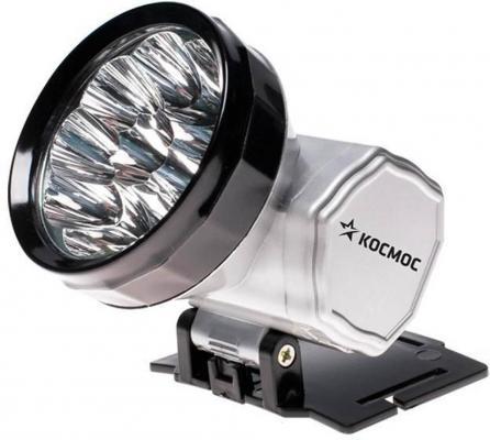 Фонарь налобный КОСМОС ACCUH10 LED серебристый чёрный