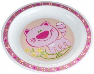 Купить Тарелка Canpol ТАРЕЛКА ПЛАСТИКОВАЯ 1 шт розовый от 1 года 4/411, Детская посуда для кормления