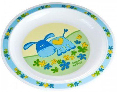 Купить Тарелка Canpol ТАРЕЛКА ПЛАСТИКОВАЯ 1 шт голубой от 1 года 4/411, Детская посуда для кормления