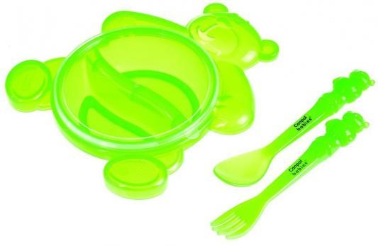 Набор для кормления Canpol Медвежонок 4 шт зеленый от 1 года 2/422 набор greenell стол 4 стула ftfs 1 зеленый